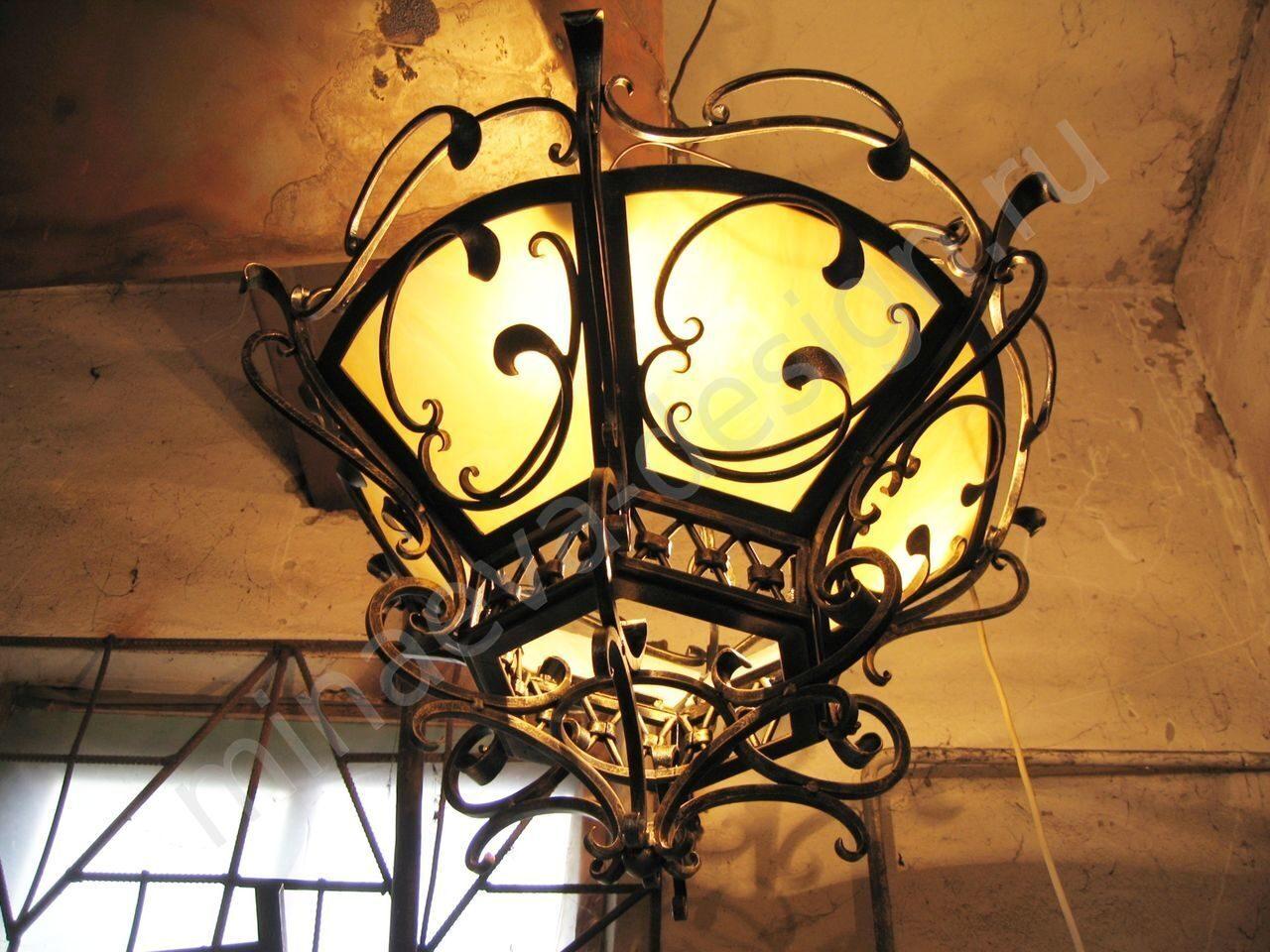 Кованый светильник своими руками из 609