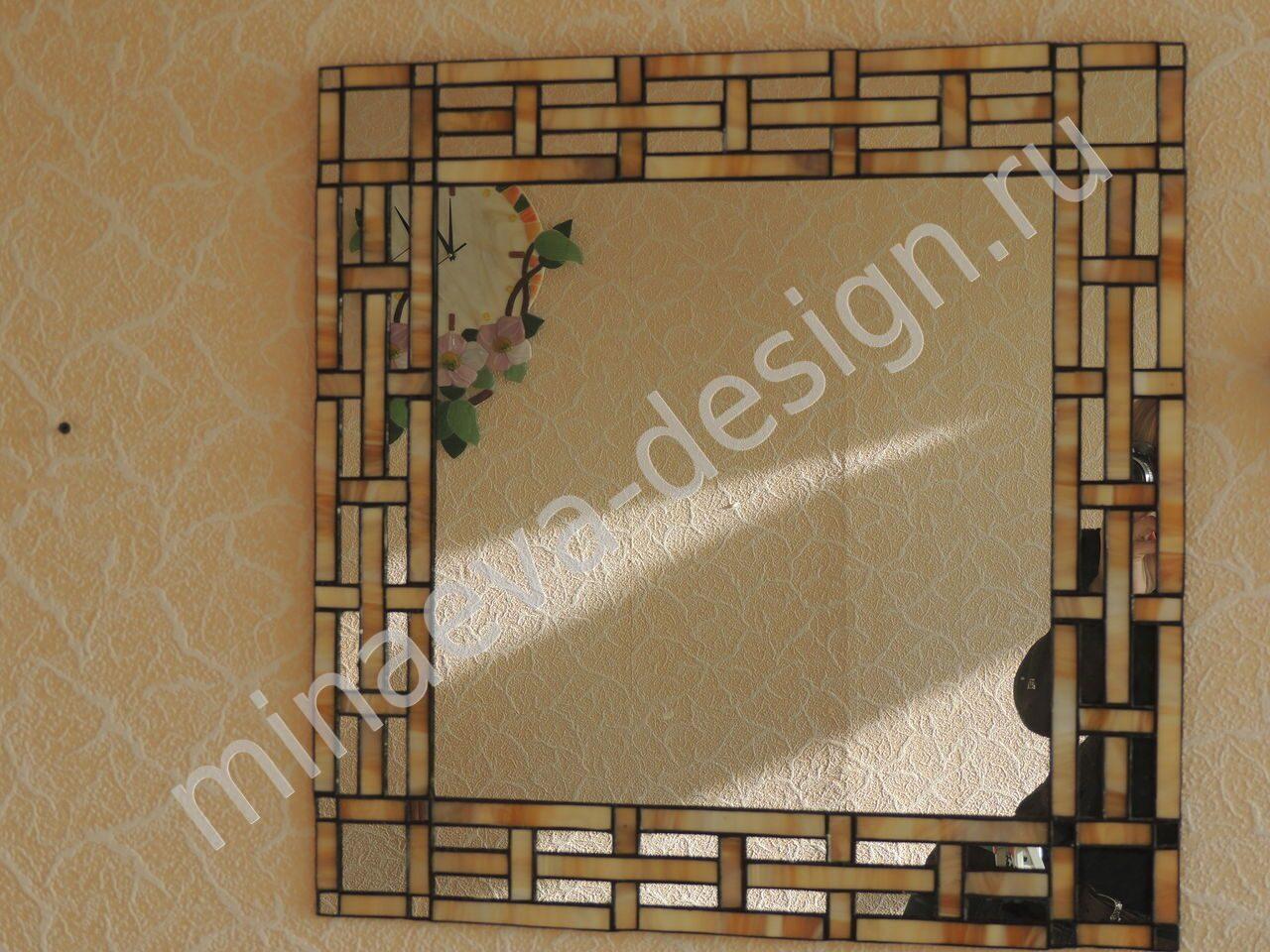 Обрамление зеркала фото