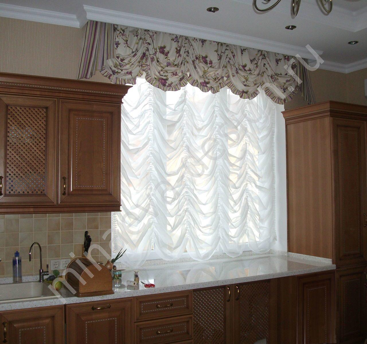 Шторы для кухни короткие фото дизайн
